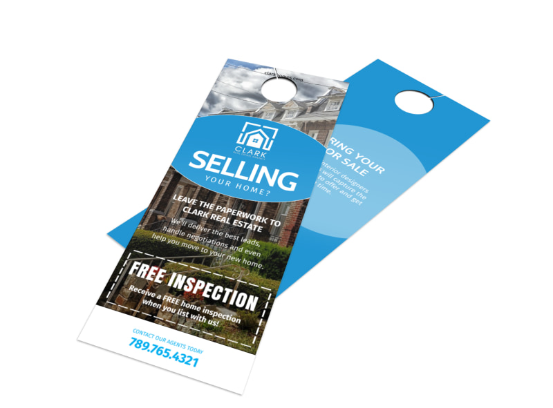 Thinking Of Selling Real Estate - Door Hanger Template MyCreativeShop