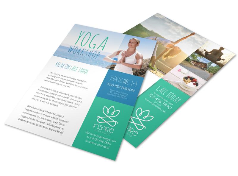 Yoga Workshop Flyer Template MyCreativeShop