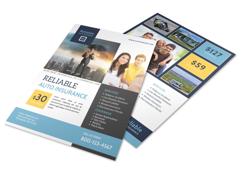 Insurance Templates MyCreativeShop - insurance flyer templates
