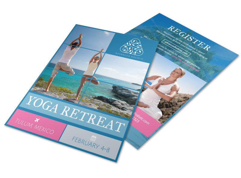 Yoga Retreat Flyer Template MyCreativeShop - yoga flyer
