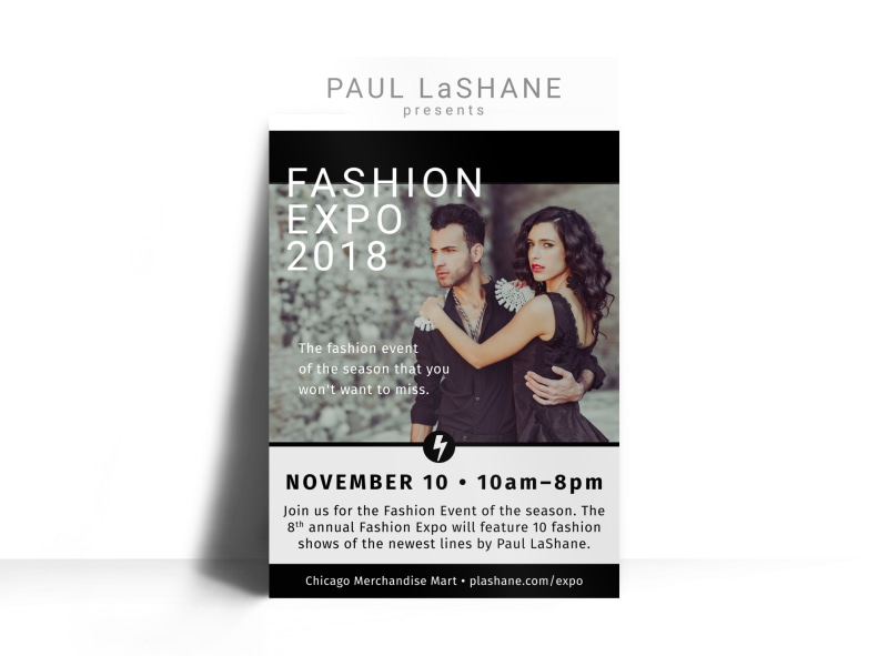 Fashion Expo Poster Template MyCreativeShop - fashion poster design