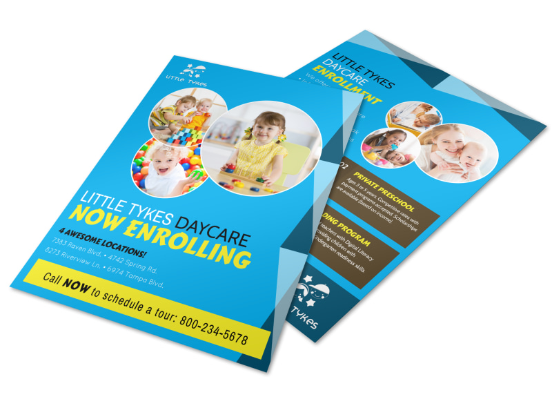 Daycare Now Enrolling Flyer Template MyCreativeShop