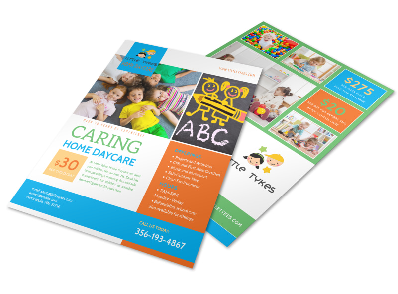 Caring Home Daycare Flyer Template MyCreativeShop