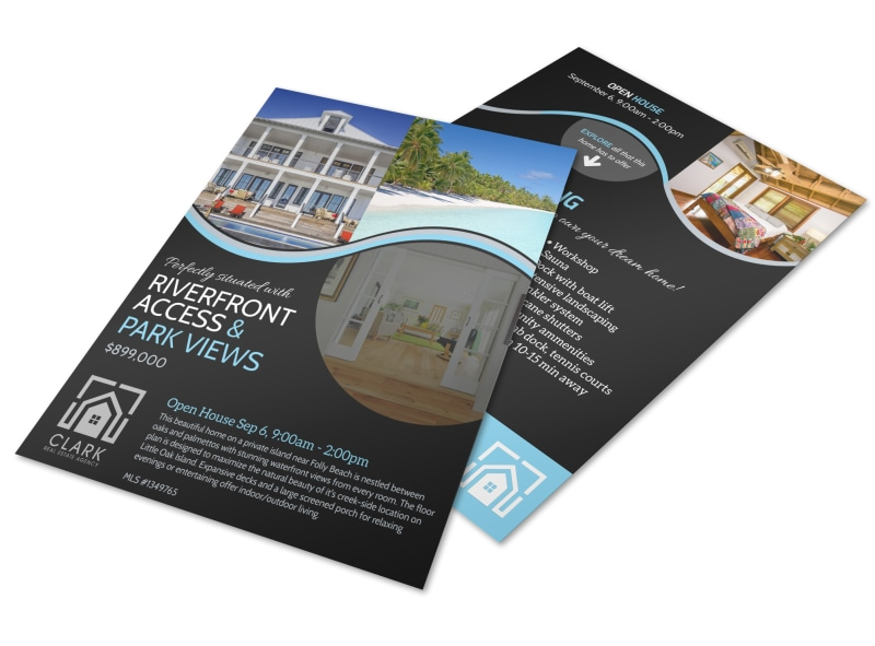 Island Living Open House Flyer Template MyCreativeShop