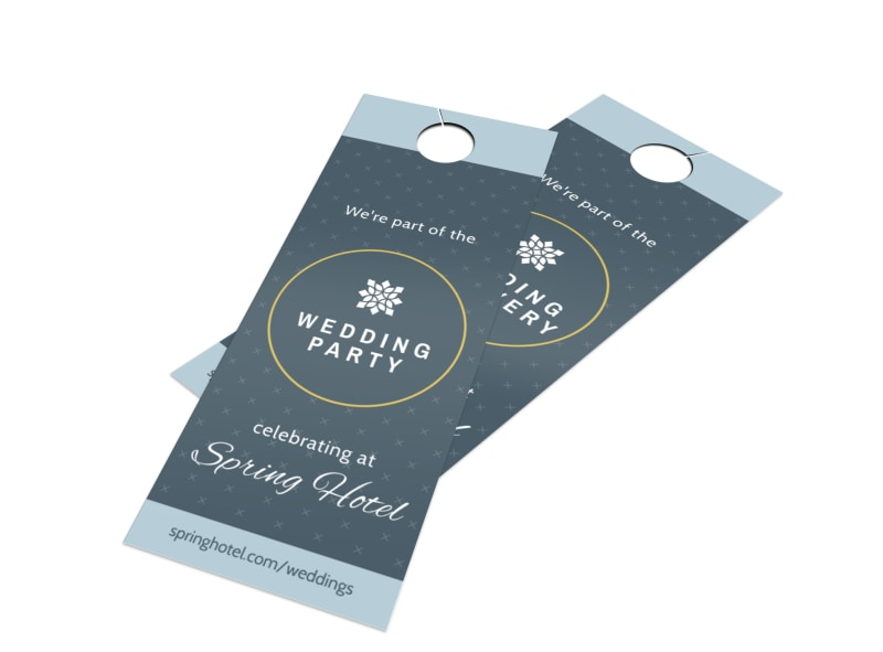 Hotel Wedding Party Door Hanger Template MyCreativeShop