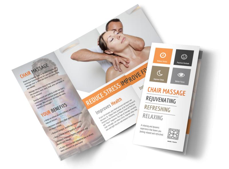 Chair Massage Tri-Fold Brochure Template MyCreativeShop - tri brochures