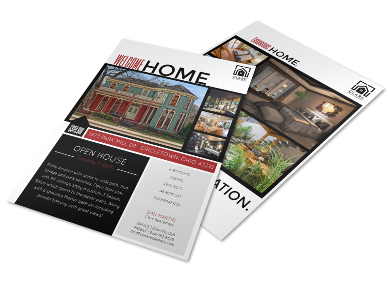 Welcome Home Open House Flyer Template MyCreativeShop - open house flyer