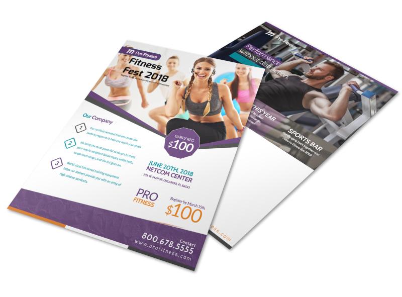 Fitness Fest Event Flyer Template MyCreativeShop