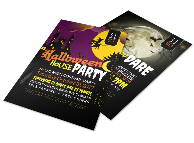 Halloween House Party Flyer Template MyCreativeShop