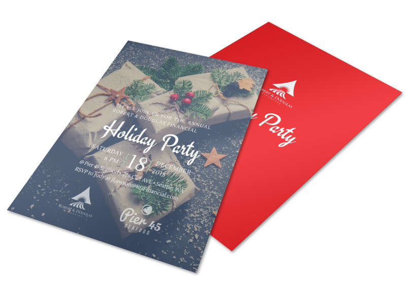 Christmas Holiday Party Flyer Template MyCreativeShop - holiday party flyer template