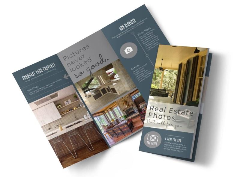 Real Estate Photography Tri-Fold Brochure Template MyCreativeShop
