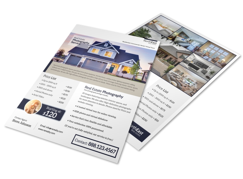 Real Estate Photographer Flyer Template MyCreativeShop