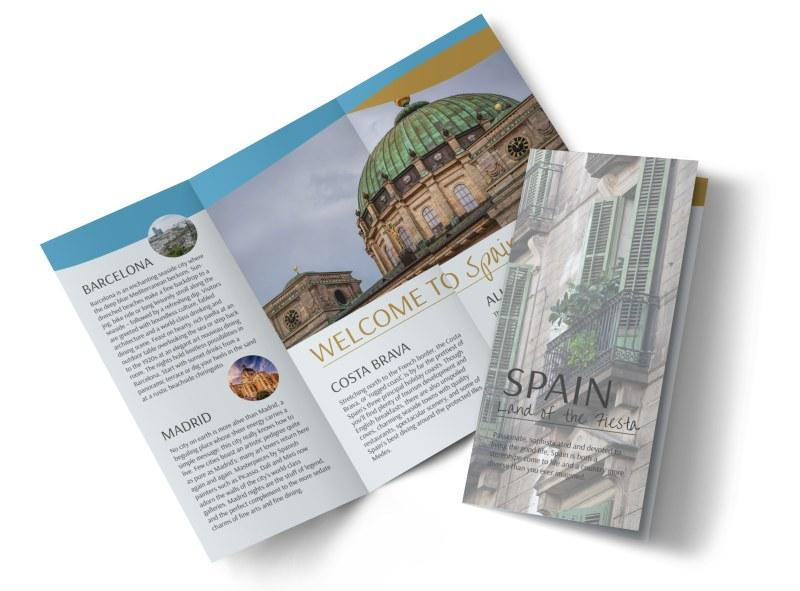 Spain Travel Tri-Fold Brochure Template MyCreativeShop