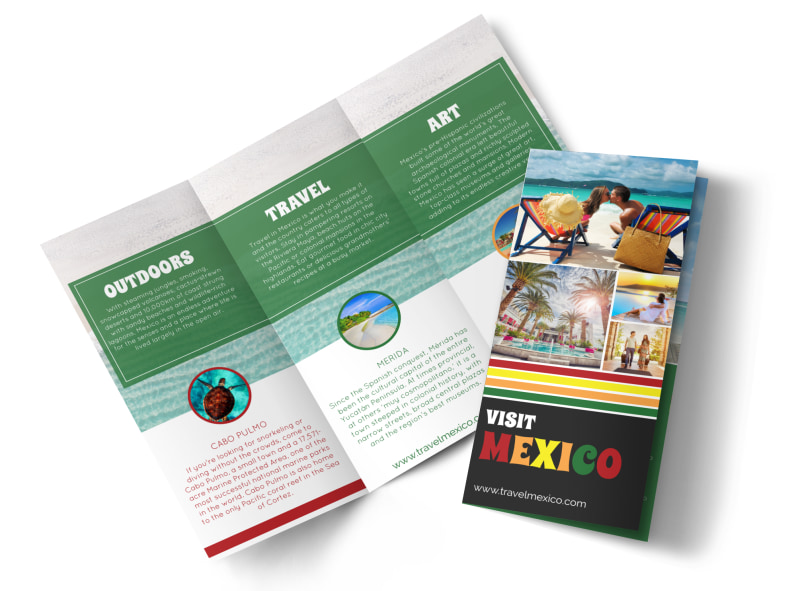 Mexico Travel Tri-Fold Brochure Template MyCreativeShop