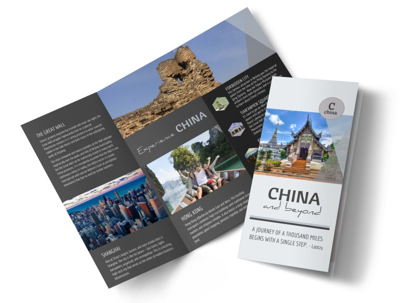 China Travel Tri-Fold Brochure Template MyCreativeShop
