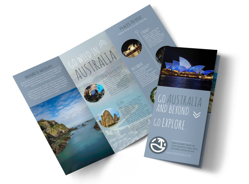 Travel Australia Tri-Fold Brochure Template MyCreativeShop - tri brochures