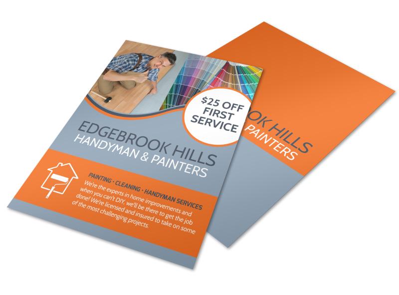 Handyman Skills Checklist Flyer Template MyCreativeShop