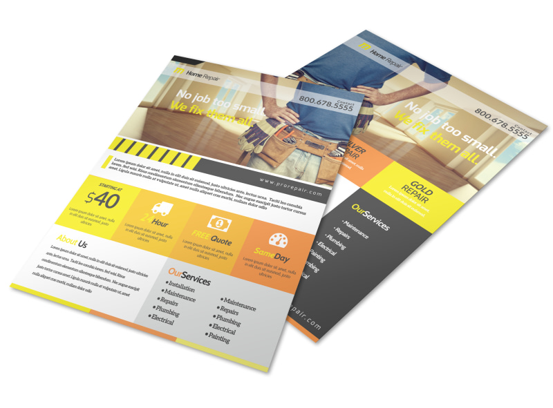 Handyman Home Improvement Flyer Template MyCreativeShop