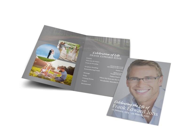Celebration Of Life Bi-Fold Brochure Template MyCreativeShop - celebration of life templates