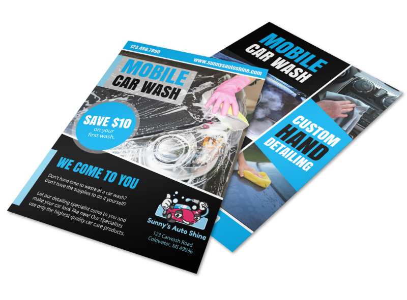 Mobile Car Wash Flyer Template MyCreativeShop - car wash flyer template