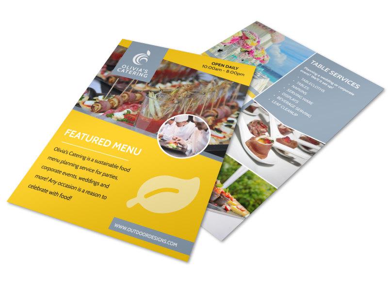 Catering Menu Flyer Template MyCreativeShop
