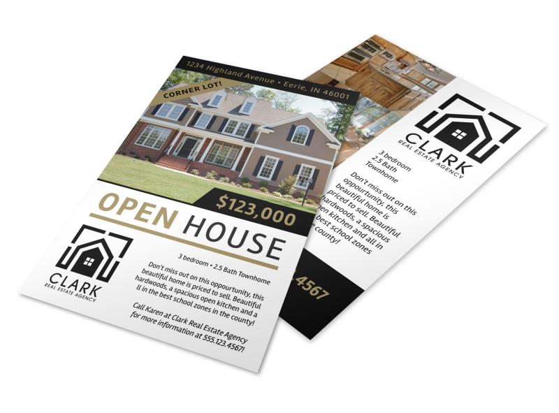 Simple Open House Flyer Template MyCreativeShop