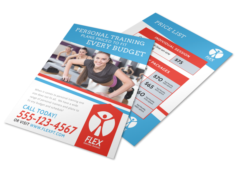 Personal Trainer Pricing Poster Template MyCreativeShop