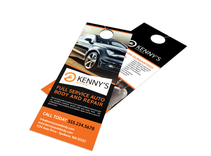Auto Repair Door Hanger Template MyCreativeShop - door hanger design template