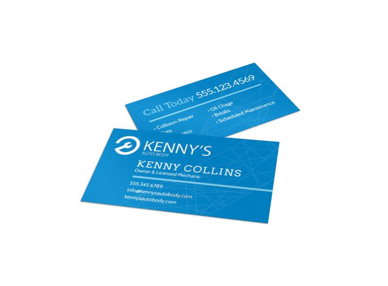 Friendly Auto Repair Business Card Template MyCreativeShop