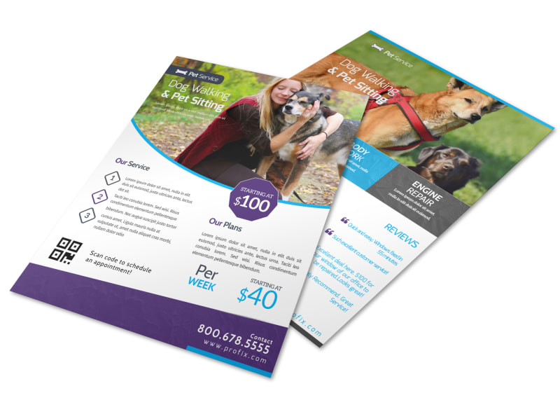 Pet Service Advertising Create Flyers, Brochures, Posters  More