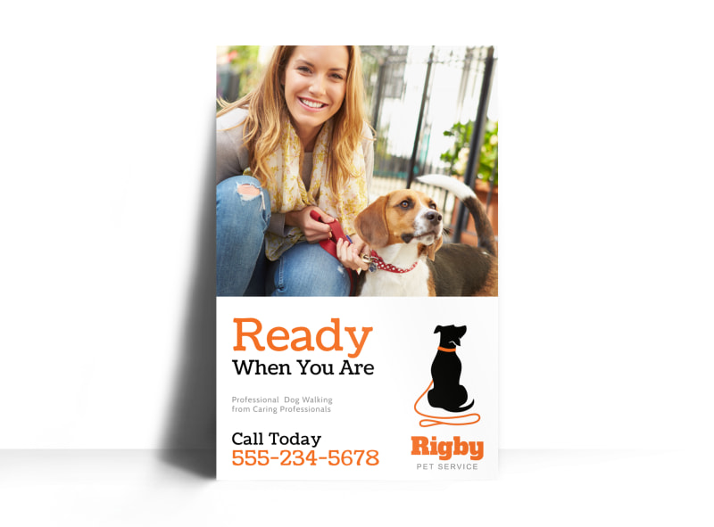 Dog Walking Poster Template MyCreativeShop