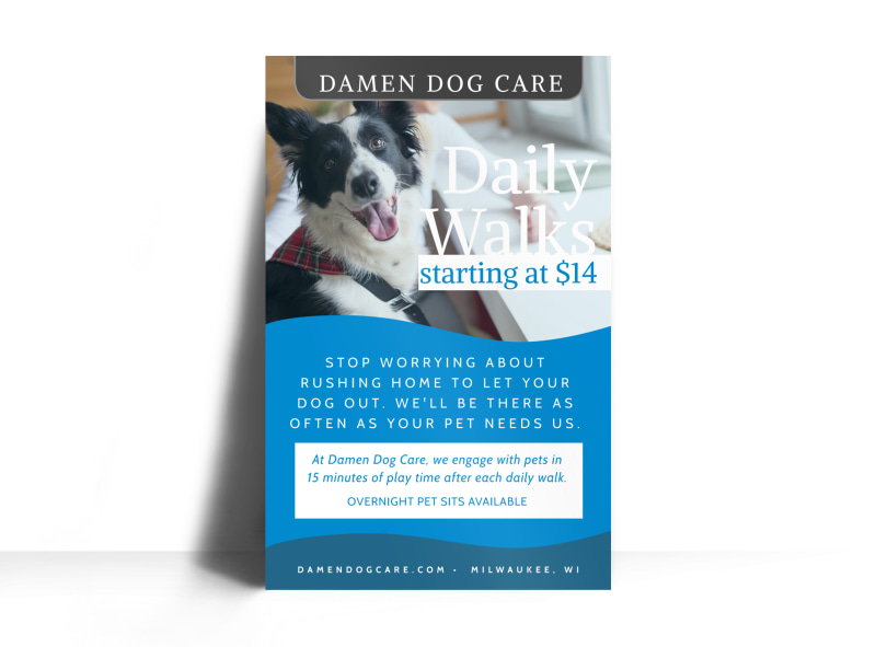 Daily Dog Walking Poster Template MyCreativeShop
