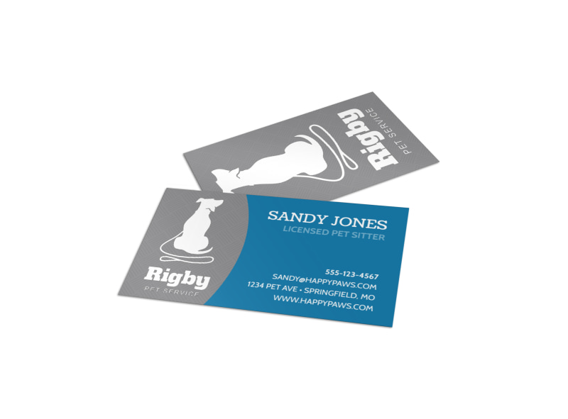 Rigby Pet Sitting Business Card Template MyCreativeShop