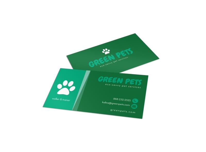 Green Pet Sitting Business Card Template MyCreativeShopnew pet