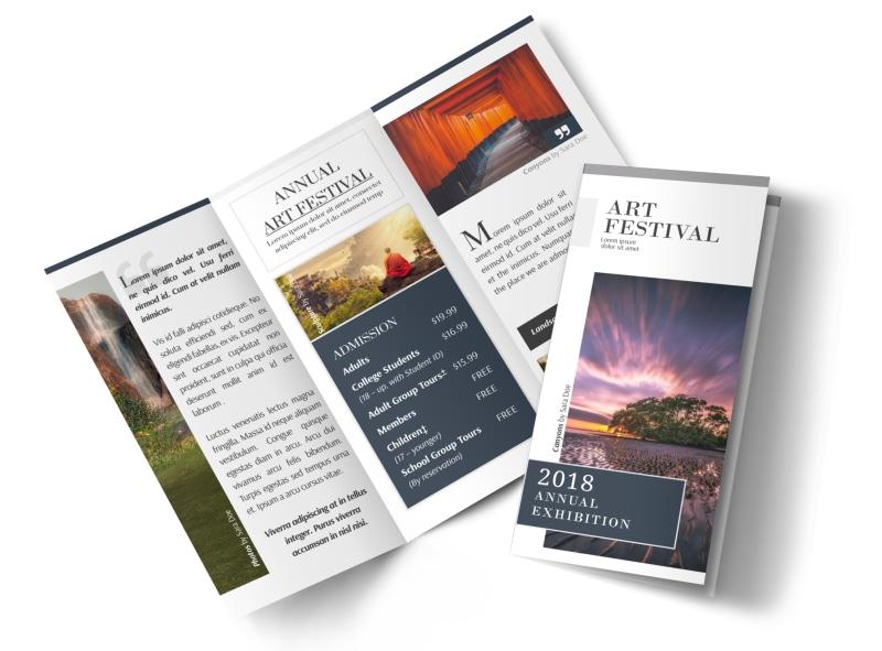 Art Festival Tri-Fold Brochure Template MyCreativeShop - tri brochures