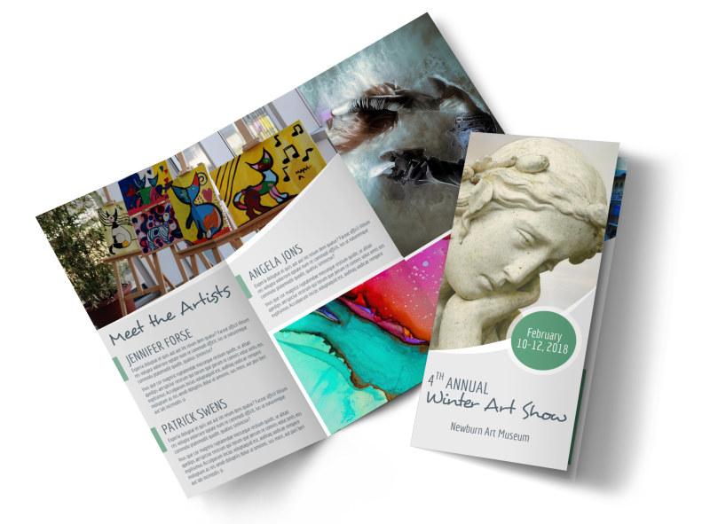 Winter Art Show Tri-Fold Brochure Template MyCreativeShop