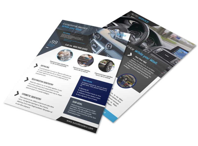 Exceptional Auto Detailing Flyer Template MyCreativeShop