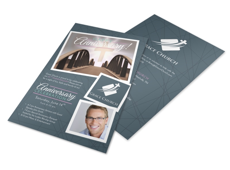 Awesome Church Anniversary Flyer Template MyCreativeShop