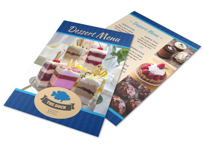 The Dock Dessert Menu Template MyCreativeShop