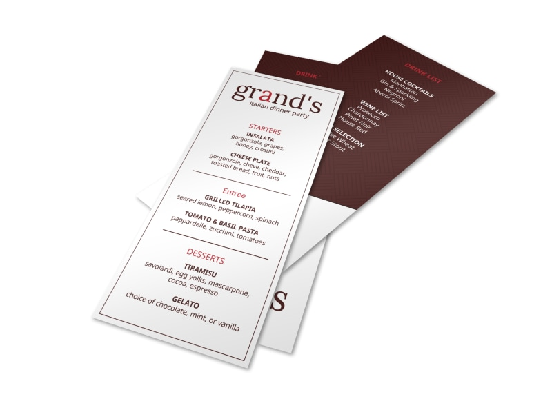 Grand Dinner Party Menu Template MyCreativeShop