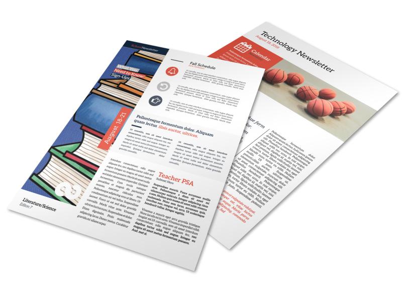 Informative School Newsletter Template MyCreativeShop