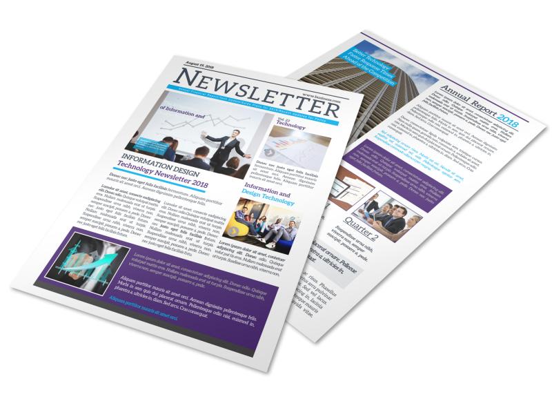 Creative Business Newsletter Template MyCreativeShop - business newsletter