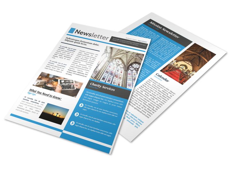 Classic Church Newsletter Template MyCreativeShop