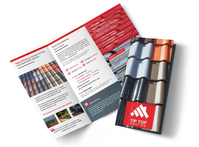Tip Top Roofing Tri-Fold Brochure Template MyCreativeShop - tri brochures