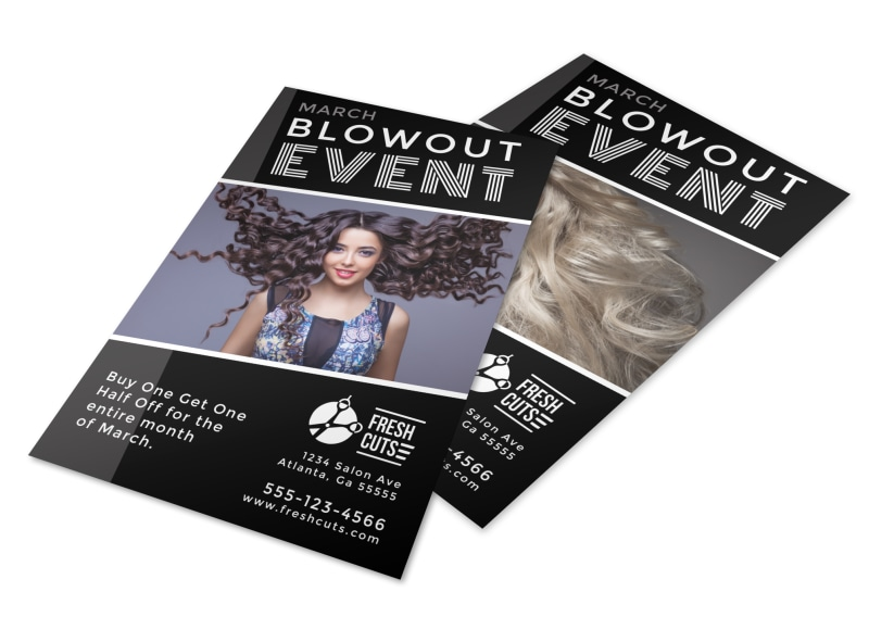 Hair Salon Blowout Event Flyer Template MyCreativeShop