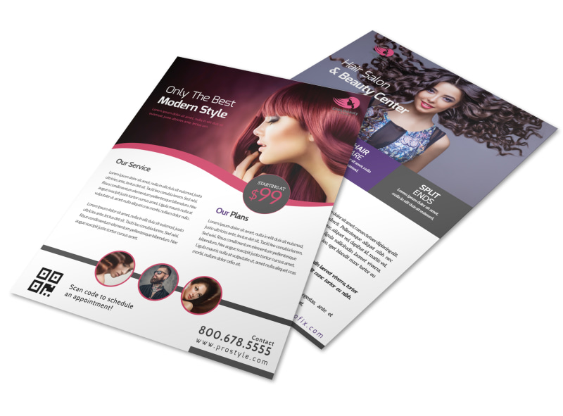 Hair Salon About Us Flyer Template MyCreativeShop - hair salon flyer template