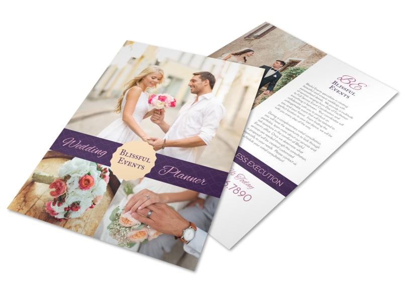 Blissful Wedding Planner Flyer Template MyCreativeShop