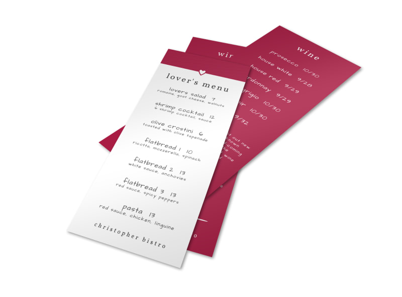 Valentine\u0027s Day Dinner Menu Template MyCreativeShop - valentines day menu template