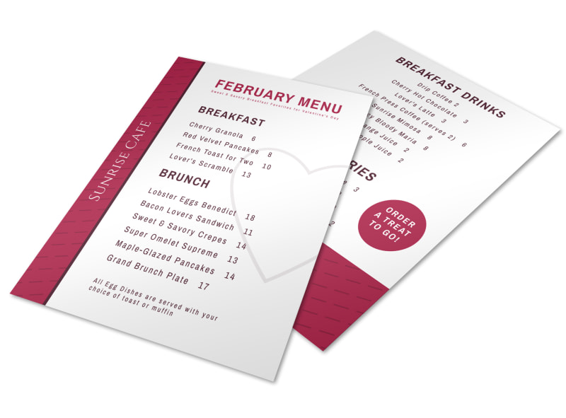 Valentine\u0027s Day Brunch Menu Template MyCreativeShop - valentines day menu template