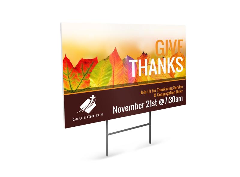 Thanksgiving Church Yard Sign Template MyCreativeShop